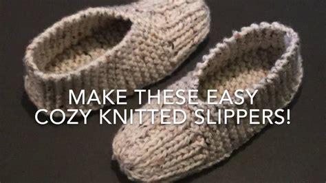 knitting pattern slipper socks easy knitted slippers easy for beginners youtube