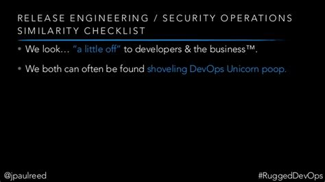 Release Engineering by Release Engineering Rugged Devops An Intersection J Paul Reed