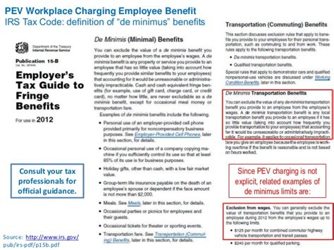 irs code section 132 workplace charging best practices calstart detroit june