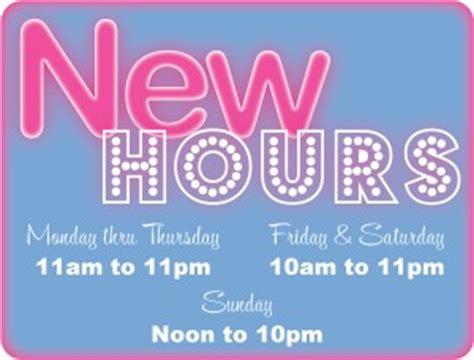 new hours sign restaurant flyer