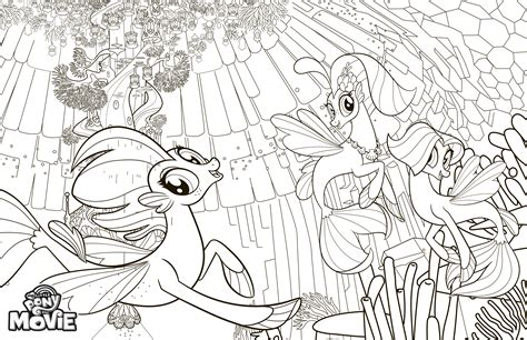 my little pony mermaid coloring pages my little pony the movie coloring pages youloveit com