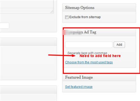 wordpress layout meta box add custom fields in custom taxonomy meta box in wordpress