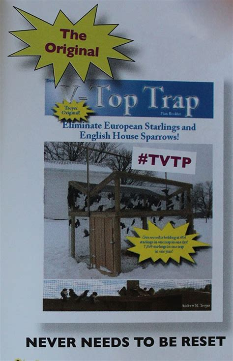 trap kitchen books large 5 x 5 cage starling sparrow v trap plans hardware kit