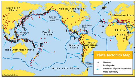 plate tectonics map the geophile pages lessons disasters