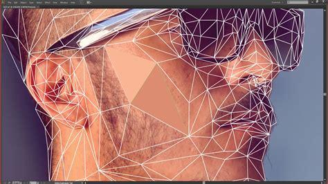 adobe photoshop graphics tutorial create a low poly portrait digital arts