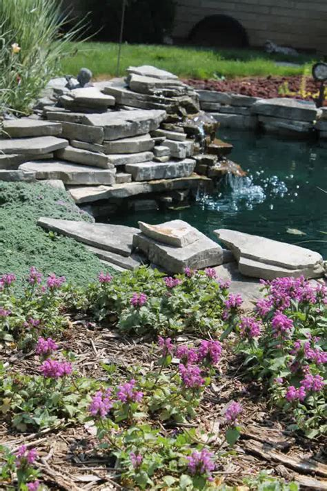 stone backyard pond ideas