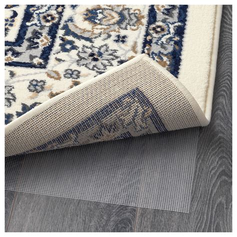 rugs at ikea vall 214 by rug low pile beige blue 170x230 cm ikea