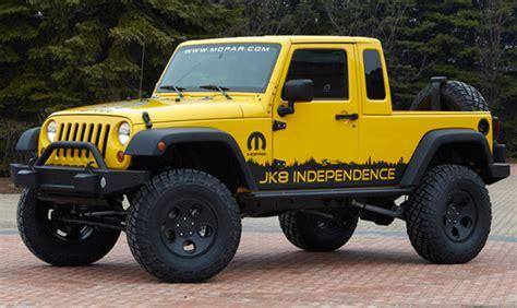 jeep wrangler bed jeep releases jk 8 pickup truck conversion wrangler for