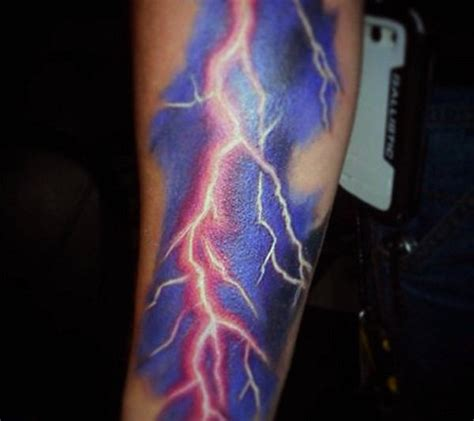 lightning bolt tattoos 60 lightning designs for high voltage ideas