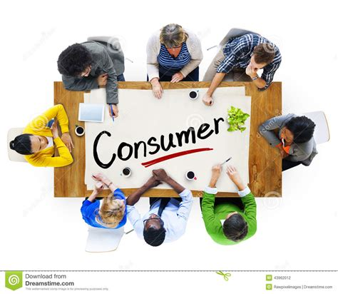the consumerist aerial view of multiethnic group with consumer concept