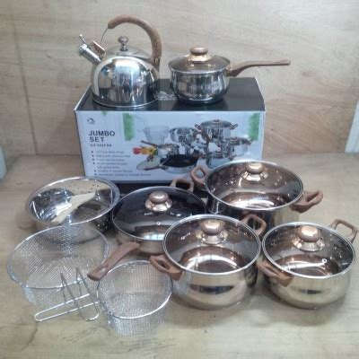 1 Set Oxone Eco Cookware eco cookware panci masak set oxone jumbo ox 988fsn anti