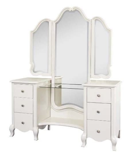 Unfinished Bedroom Vanity by Bedroom Curtains Angellina White Finish Solid Wood Vanity