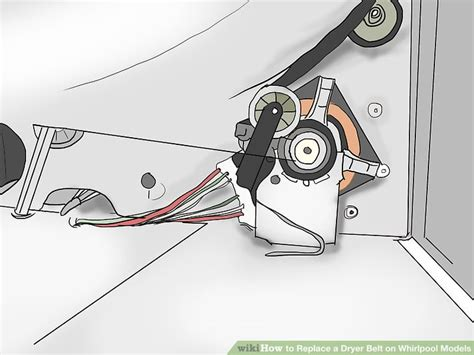 kenmore dryer belt diagram how to replace a dryer belt on whirlpool models 8 steps