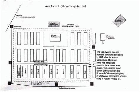 auschwitz diagram auschwitz birkenau concentration c map