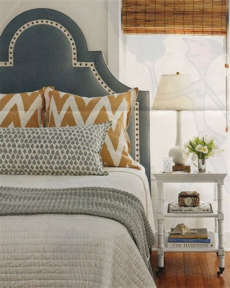 How To Make A Studded Headboard by Studded Headboard Transitional Bedroom