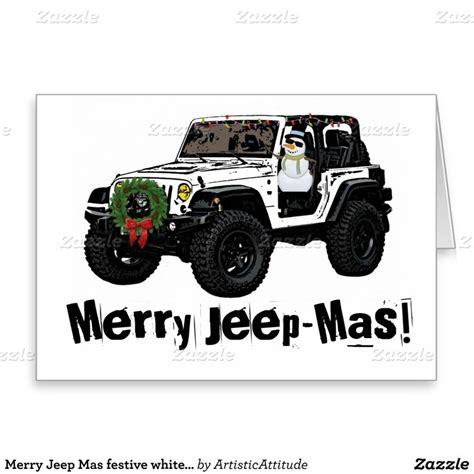 christmas jeep card business holiday cards transportation gallery card