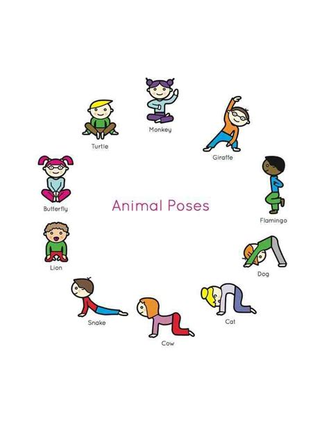 printable yoga pose flashcards yoga printables for kids images