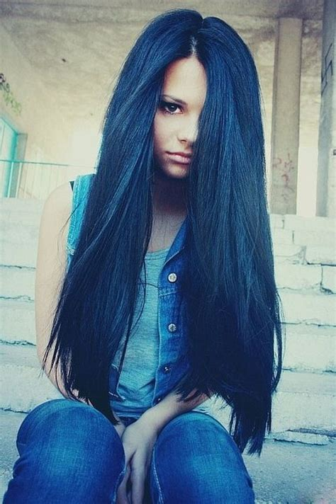 beautiful dark colors love very beautiful color blue black hair hair