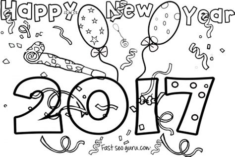 happy new year coloring pages for toddlers new years 2017 coloring page for kids printable coloring