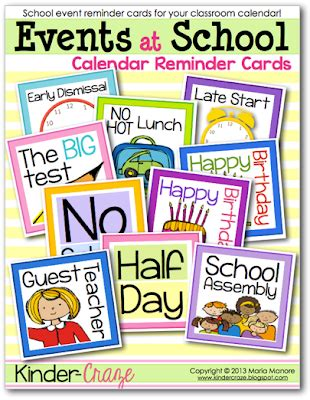 freebielicious school event calendar cards