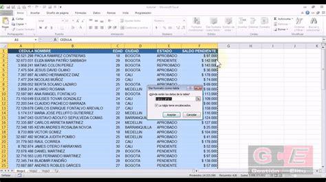 Tv Tablå by Formato De Tabla En Excel 2010