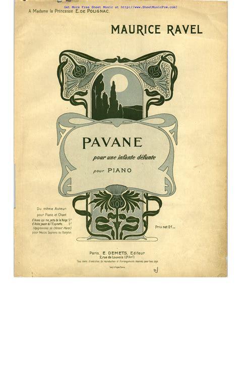 0001151967 pavane pour une infante defunte free sheet music for pavane pour une infante d 233 funte