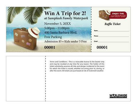 coat check tickets template order travel themed raffle tickets