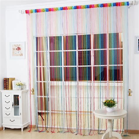 Colorful Valance Curtains New 1pc 100cm 200cm Colorful Wire Curtain Curtain