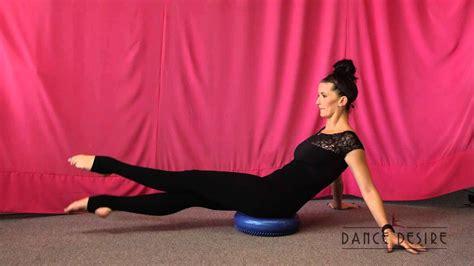 using a balance cushion for abdominal exercises balance