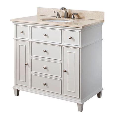 Bathroom Vanities 36 Inches Wide Avanity Single 36 Inch Transitional Bathroom Vanity White
