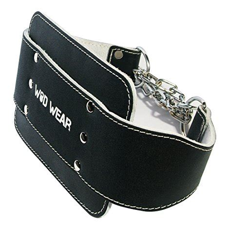 professional leather dip belt with heavy duty 30 chain