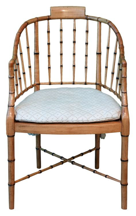 Regency style faux bamboo arm chair shop rubbish interiors inc
