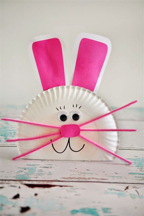bunny paper plate craft paper plate bunny eighteen25 bloglovin