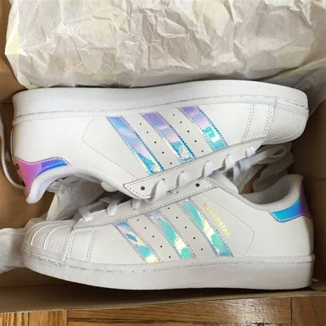 adidas iridescent holographic superstars brand new never worn deadstock not widely sold in