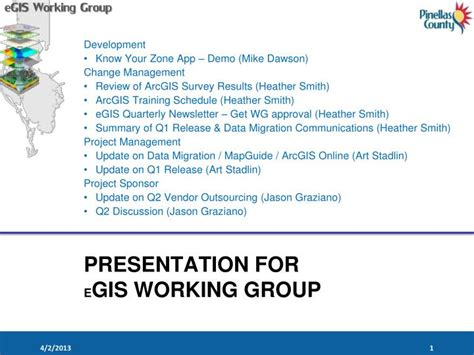 gis tutorial powerpoint presentation ppt presentation for e gis working group powerpoint