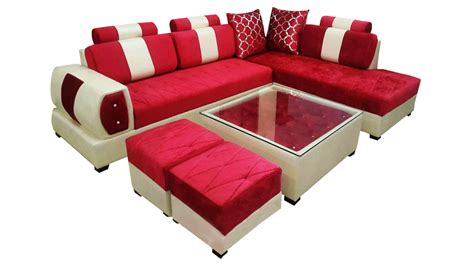 Best Bed Sets delroy l shape sofa set center table and 2 puffy dream