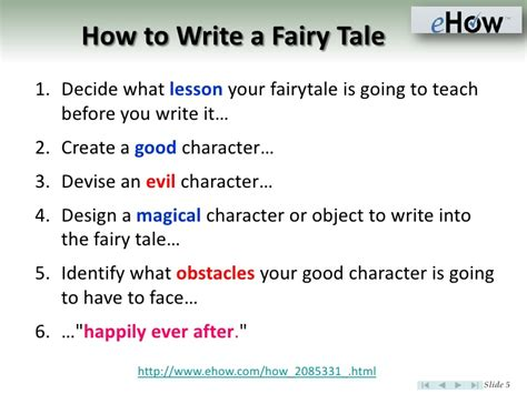 how to write a tale