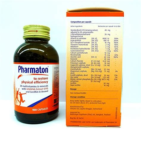 Vitamin Pharmaton Pharmaton 20 Multivitamins Minerals With Ginseng G115