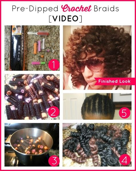 videos of how to do crochet with pre braided hair 7 step video how to do pre dipped crochet braids with
