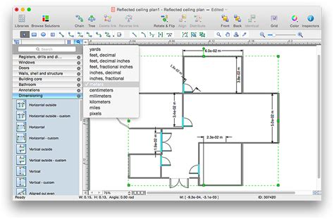 Floor Plans With Measurements creating a reflected ceiling floor plan conceptdraw helpdesk