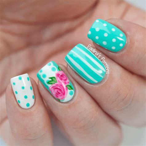 imagenes de uñas pintadas de color turquesa 75 creativos dise 241 os de u 241 as decoradas con puntos f 225 ciles