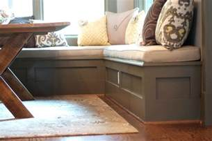 kitchen corner bench cliff with built in