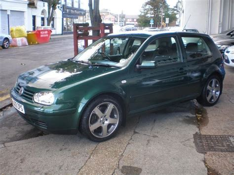 green volkswagen golf used volkswagen golf 2003 green colour petrol 1 8 t gti