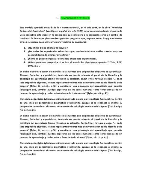 Modelo Curriculum Latinoamericano lectura recomendada para curruculo instituto