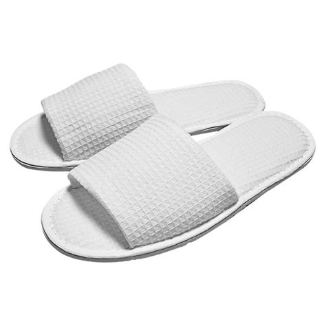 open toe bedroom slippers wholesale waffle slippers for hotels spas foremost