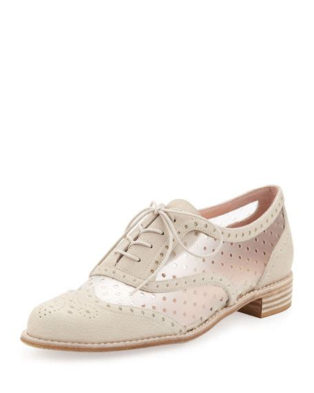 stuart weitzman oxford shoes stuart weitzman dandyperf perforated oxford ivory
