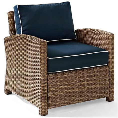 wicker armchair outdoor crosley ko70023wb nv bradenton rattan style outdoor wicker