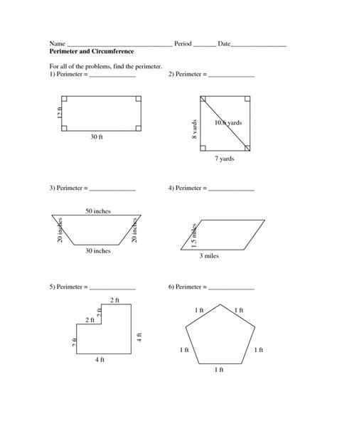 maths perimeter worksheets worksheet mogenk paper works