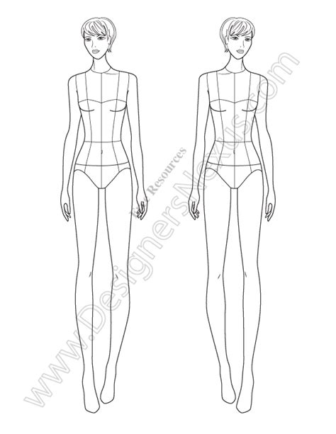 fashion drawing templates this free fashion illustration template of a