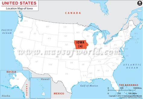 iowa state in usa map where is iowa located location map of iowa